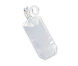 "Standard Bags Luer® Lock Connectors STD 3 Ports, 6"" + 6"" + 6"" Tubing"